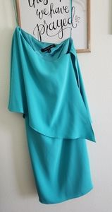 Gorgeous turquoise one shoulder dress